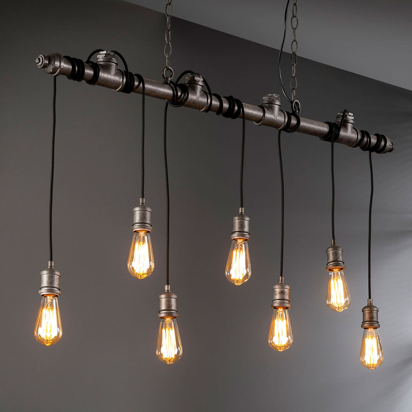 Lampa wisząca Plumblight, 7-punktowa