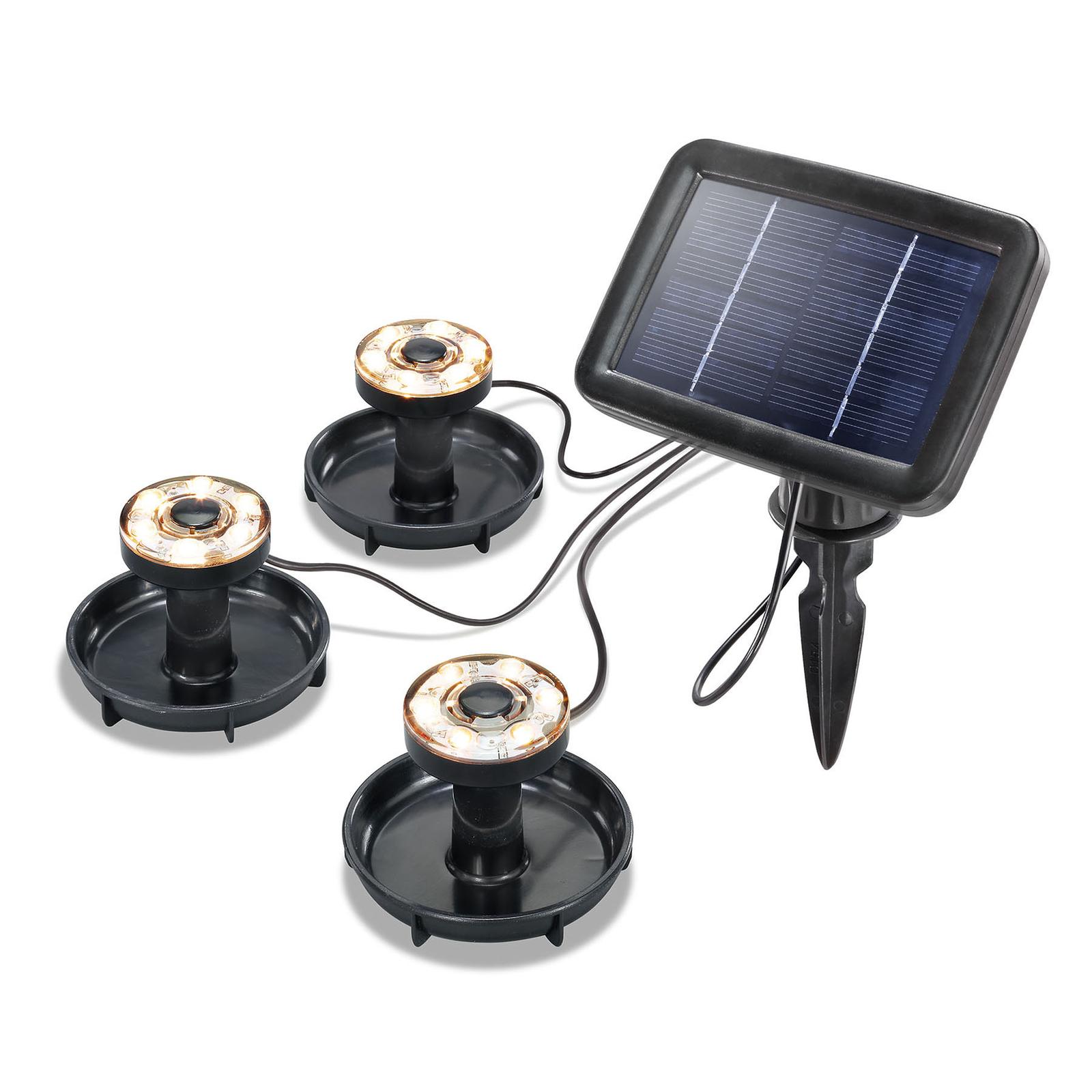 LED-Solar-Unterwasserstrahler Splash 3er