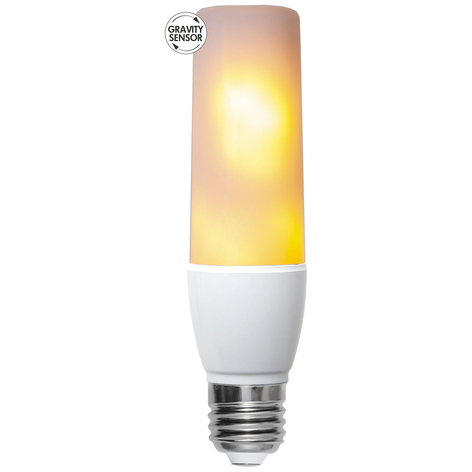 Ampoule LED E27 5,9 W flamme, capteur direction