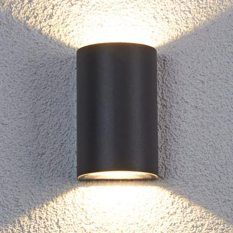 Halvrund Jale utendørs LED-vegglampe