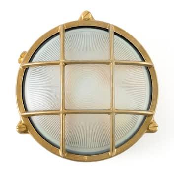 Lampada navale rotonda Noray, ottone