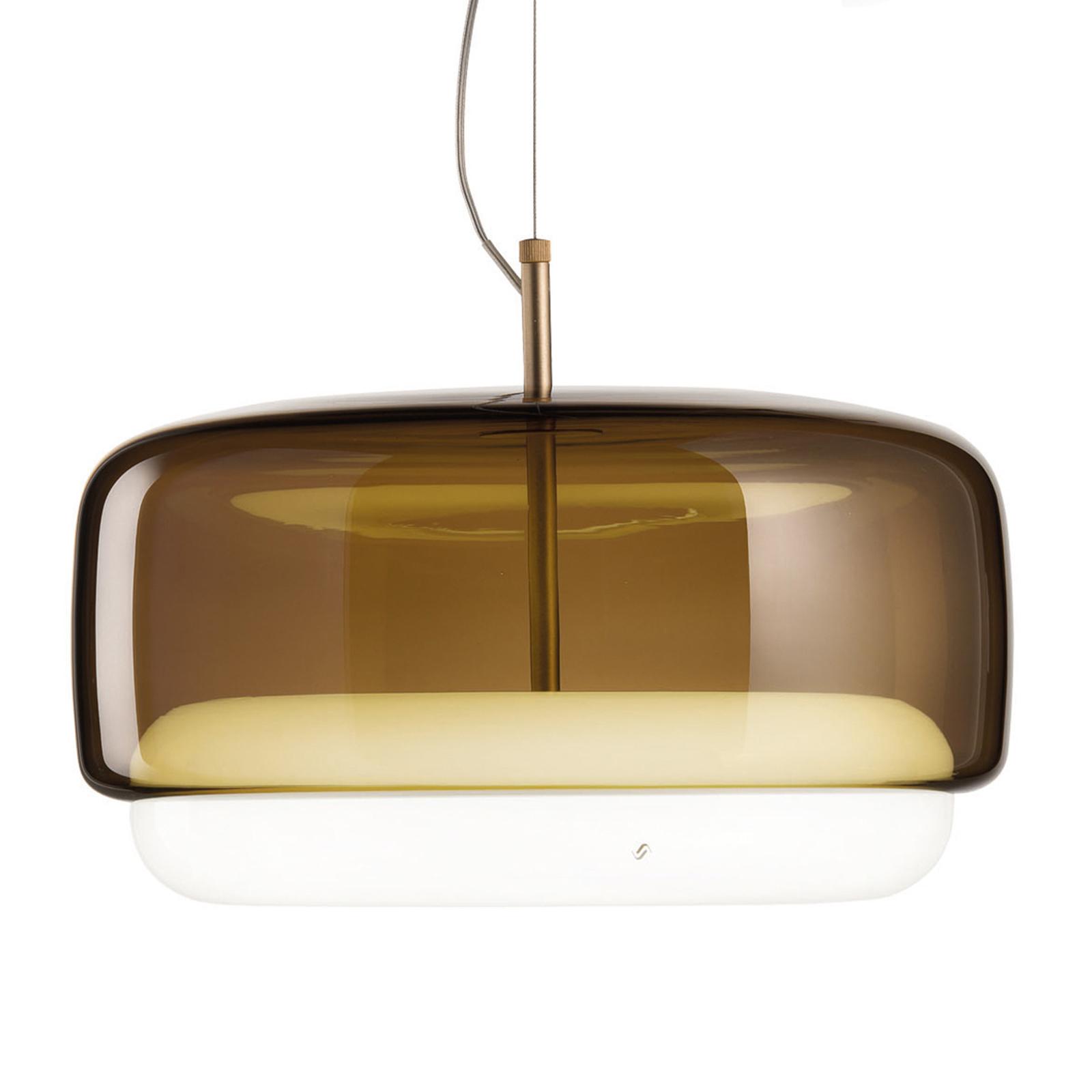 LED hanglamp Jube SP G van glas, bruin/wit