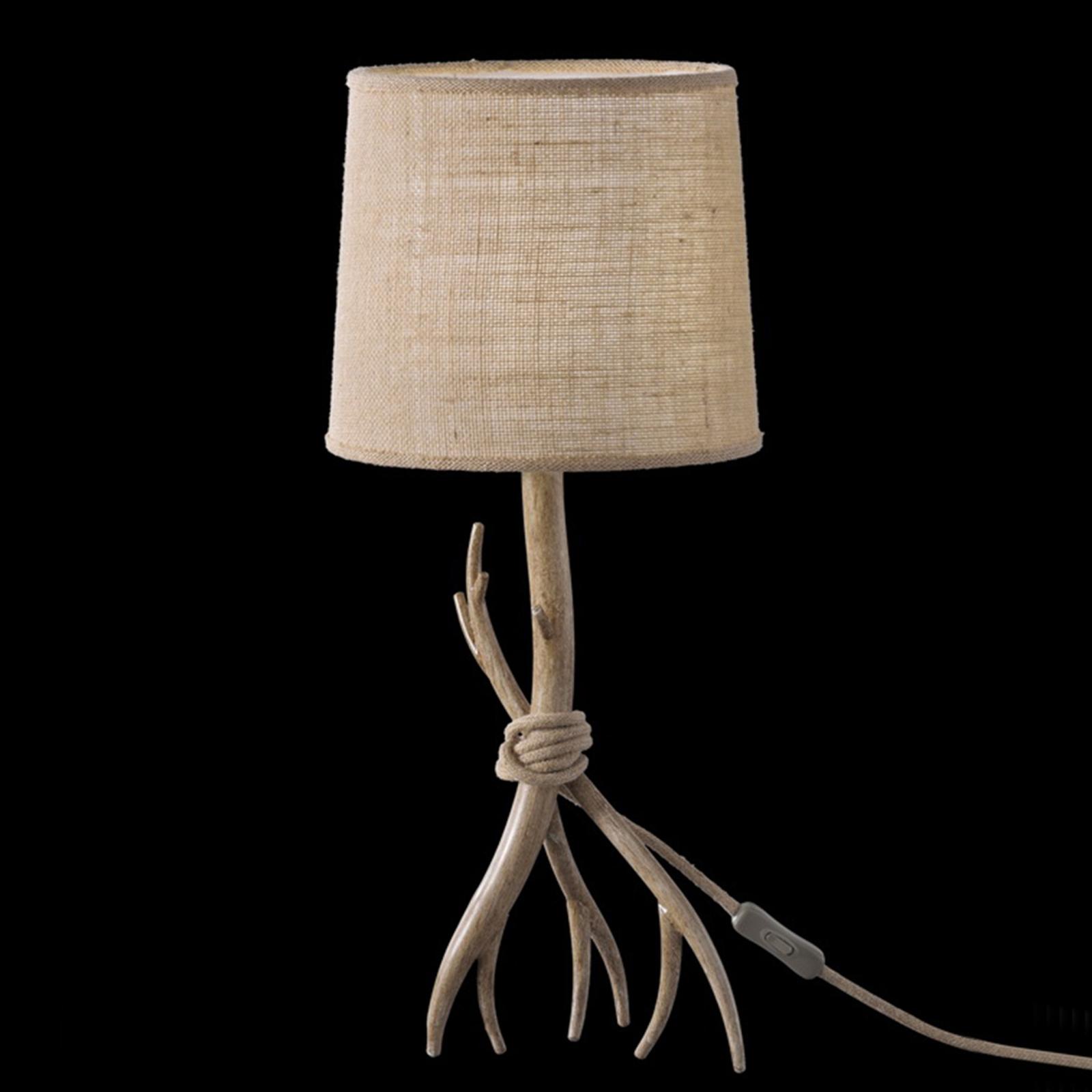 Lampe à poser Sabina avec abat-jour en tissu