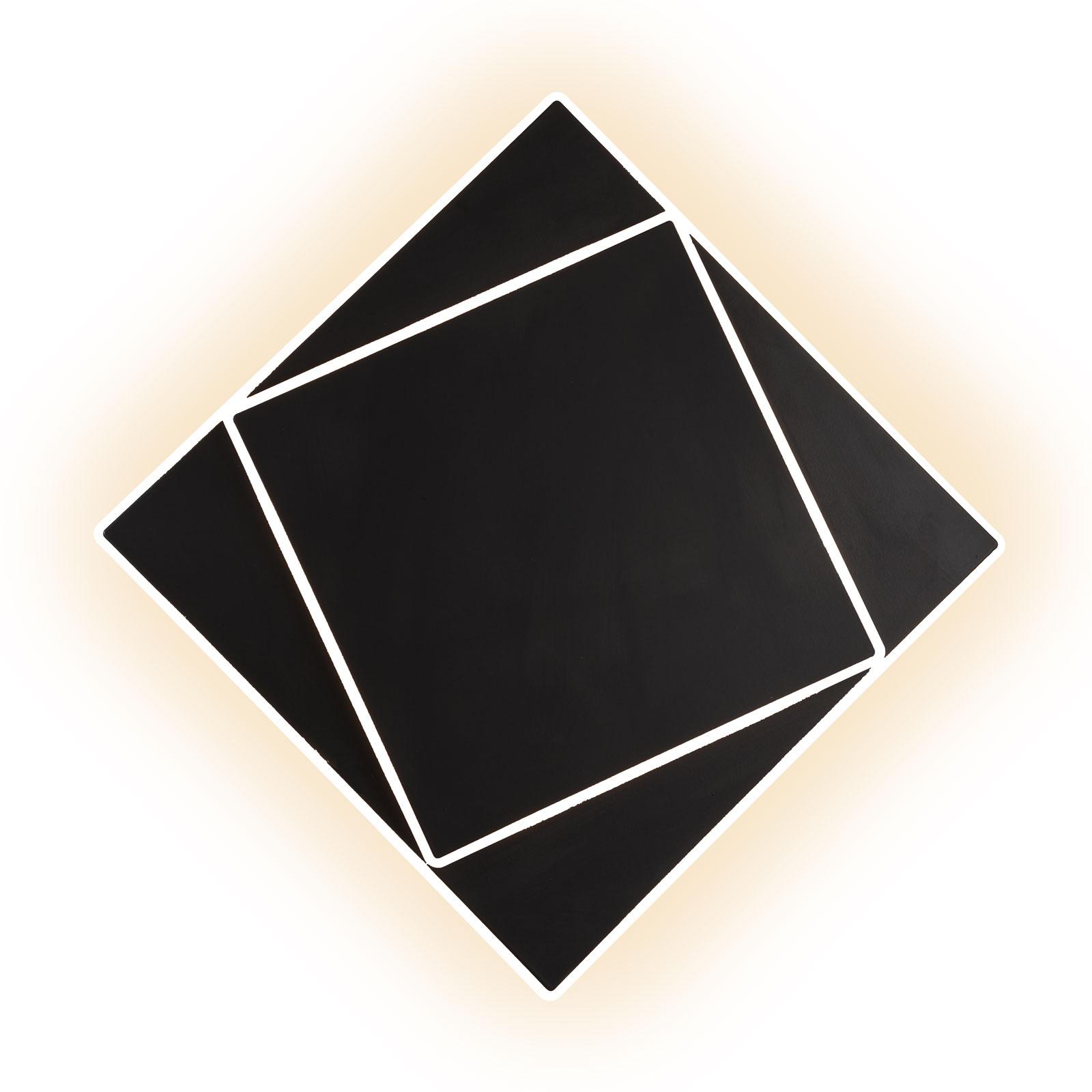 Applique LED Dakla, noire, 28x28cm