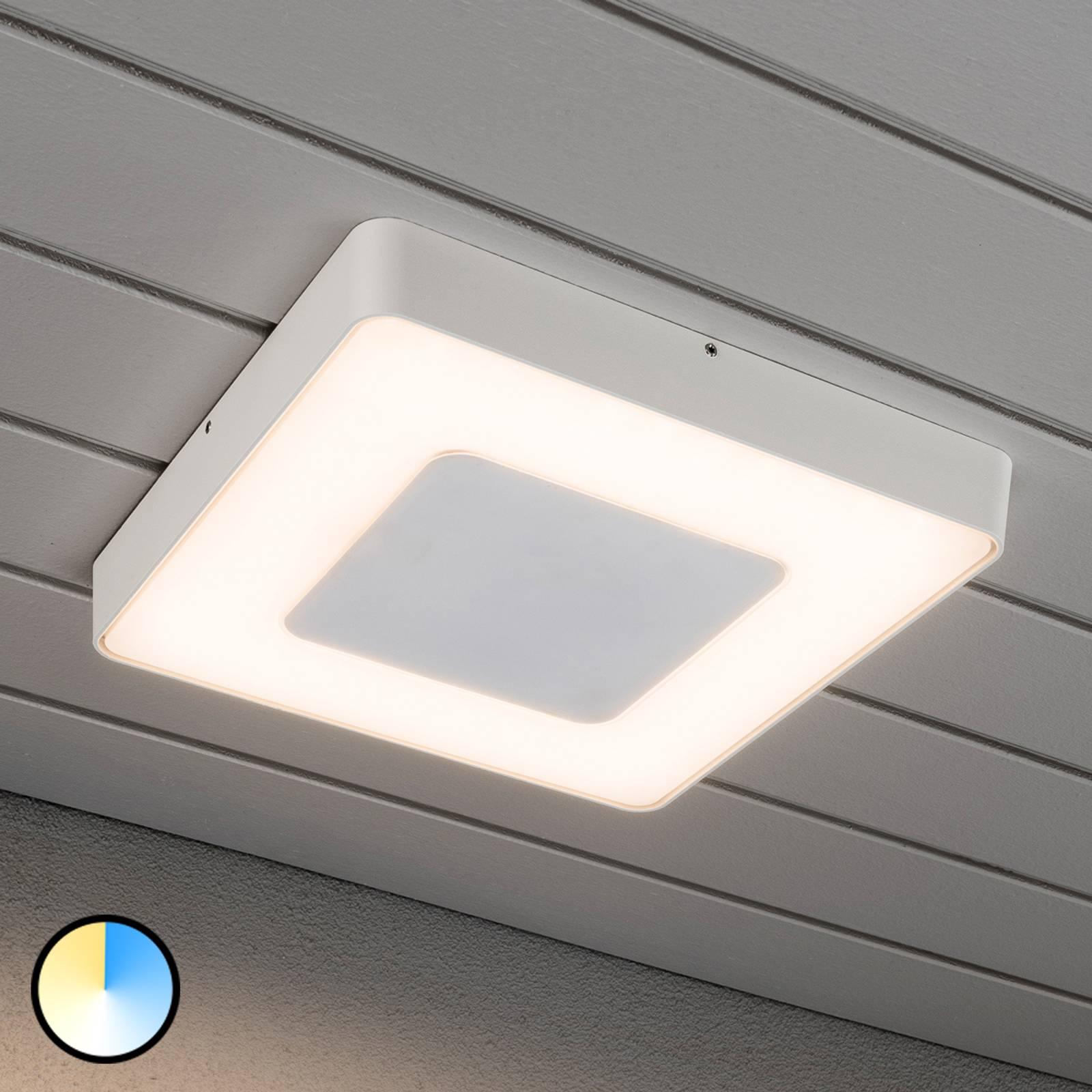 Carrara - biała kwadratowa lampa sufitowa zew. LED