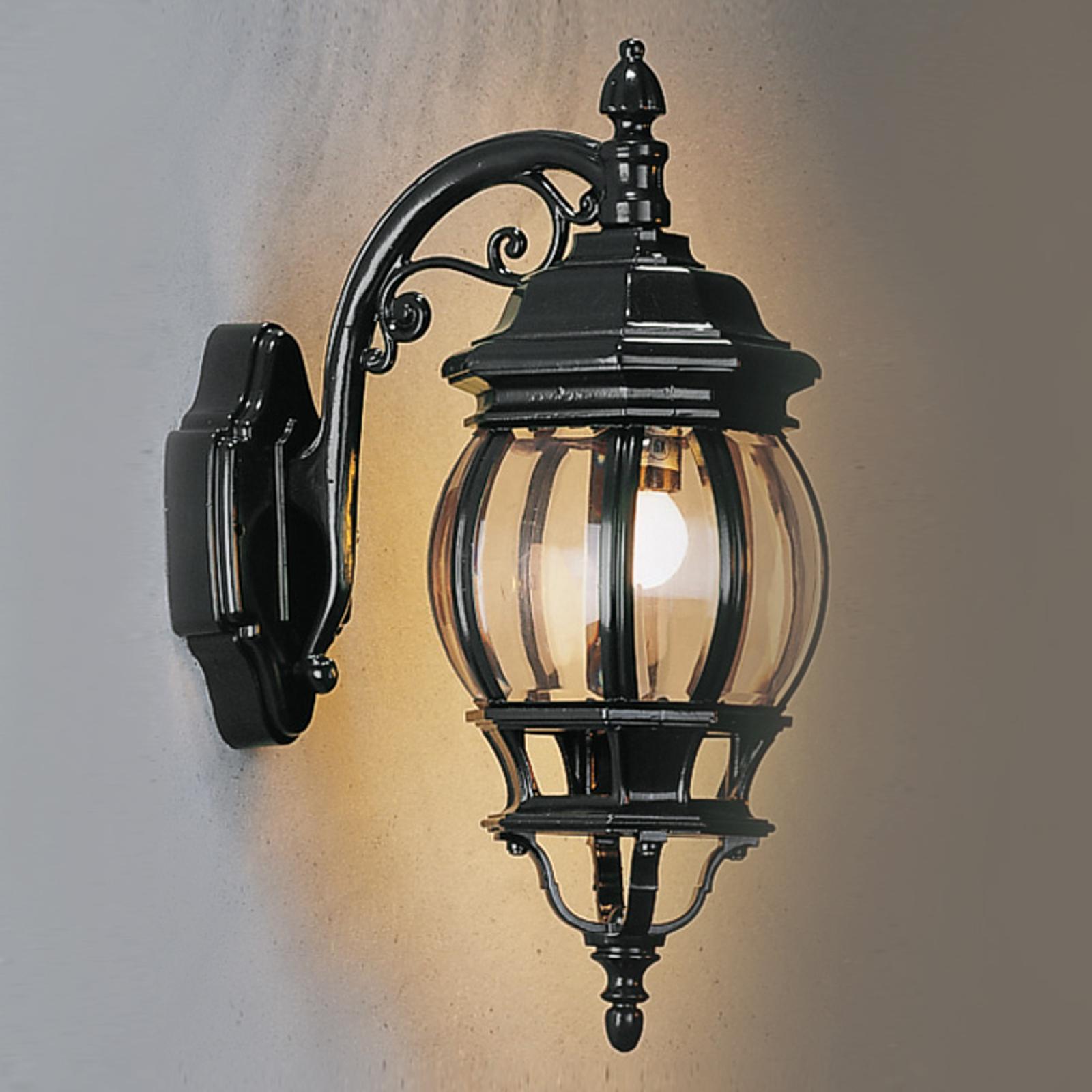 Buitenwandlamp Andrew lantaarn hangend, zwart