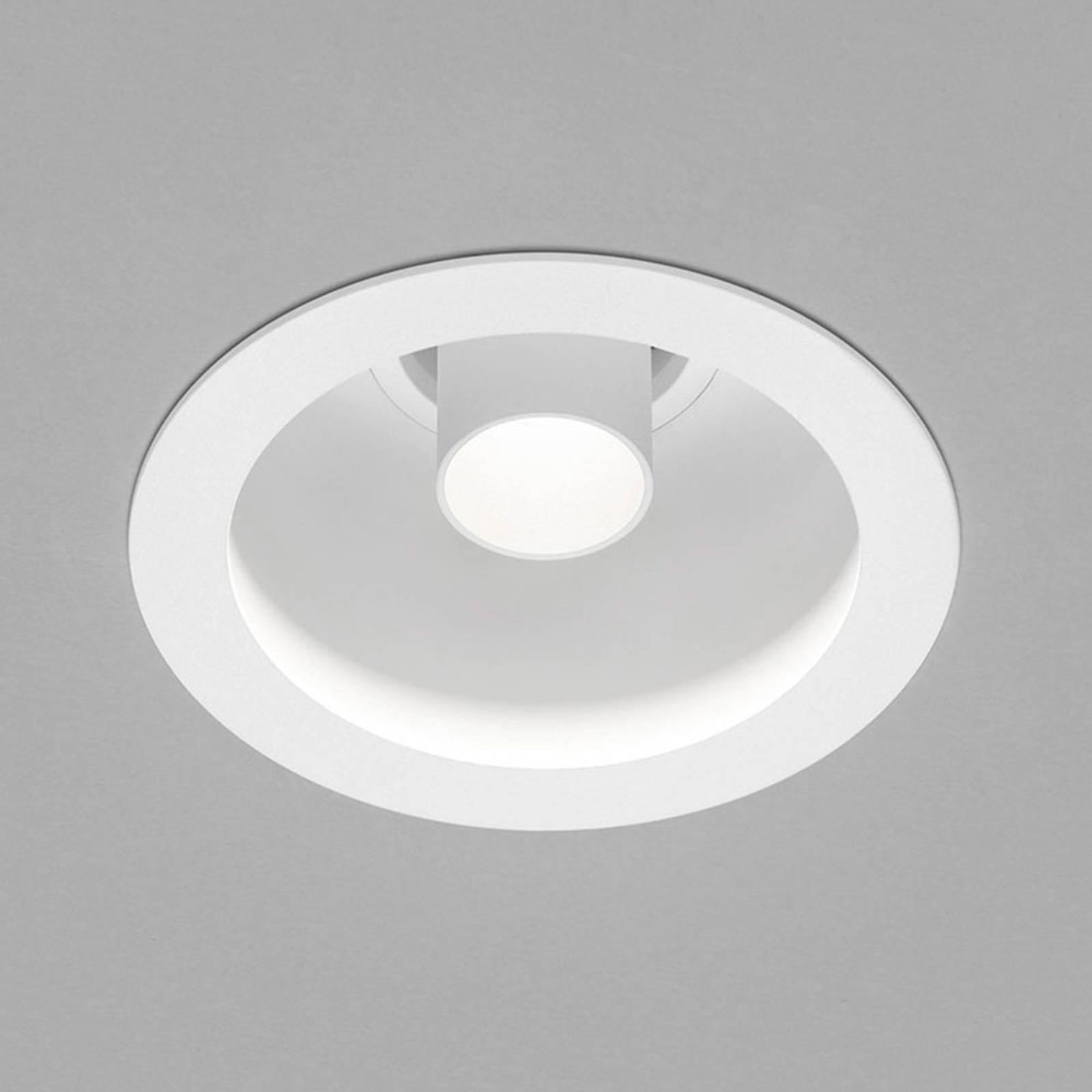 Helestra Run spot encastré LED 1 l., blanc/blanc