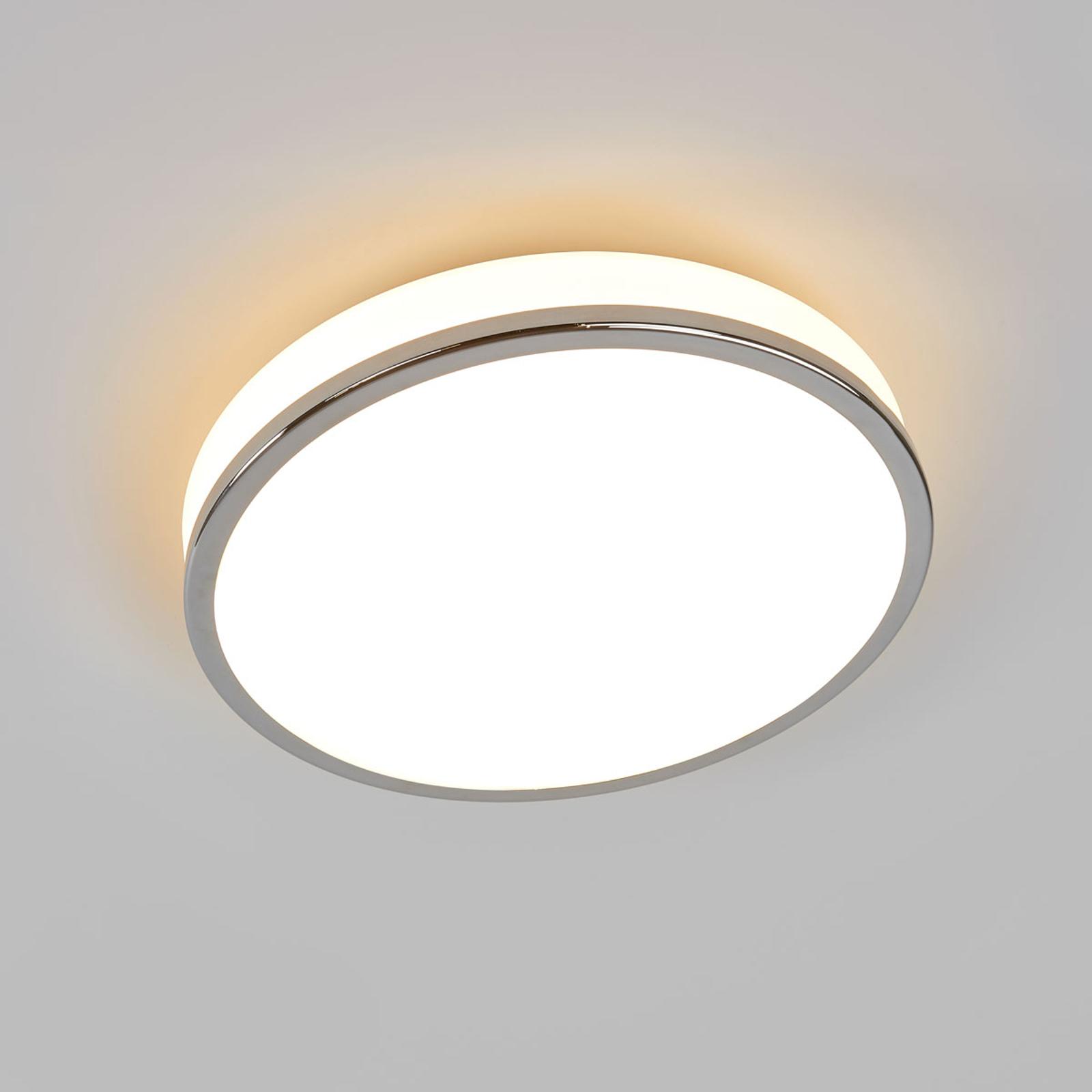 Pyöreä LED-kattolamppu Lyss kromireunuksella, IP44