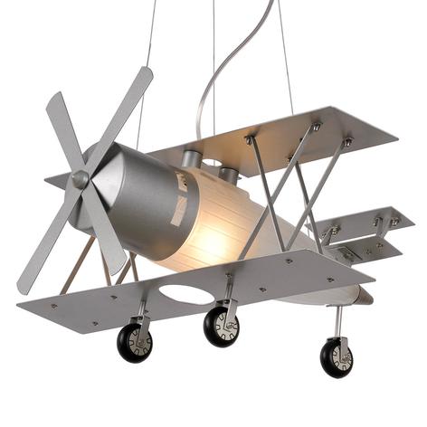 Focker - hengelampe formet som et fly