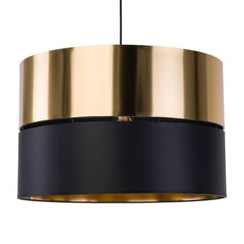 Suspension Hilton, noire/dorée, à une lampe