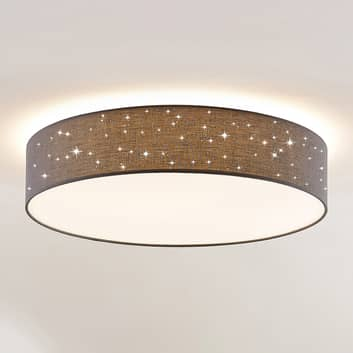 Lindby Ellamina plafón LED, 60 cm, gris oscuro
