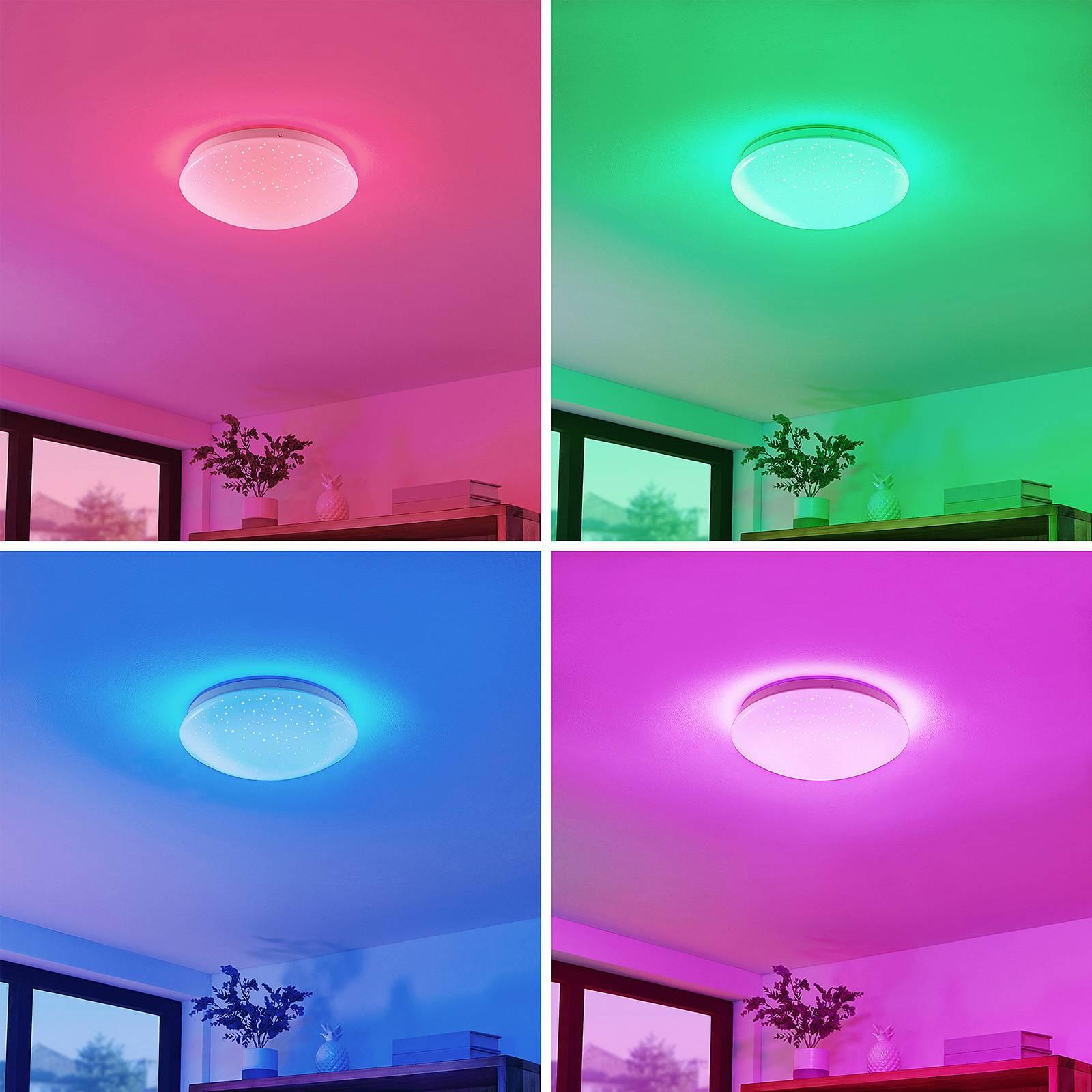 Lindby Janosch lampa sufitowa LED z pilotem
