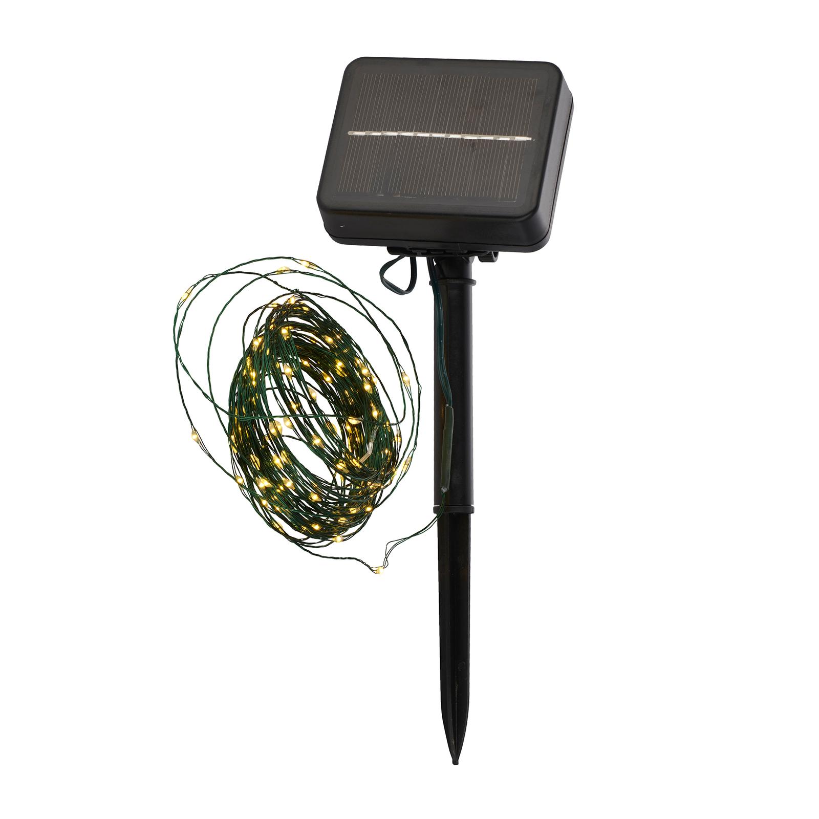 LED-Solarlichterkette Knirke Solar 7,9 m 80 LEDs