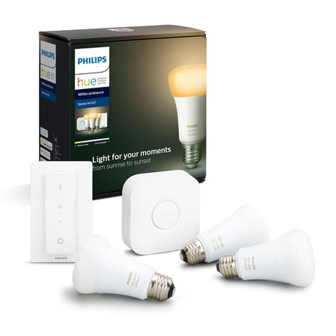Philips Hue White Ambiance E27 Starter-Kit med 3