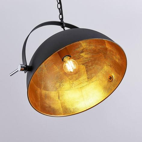 Lampa wisząca Muriel czarna/złota