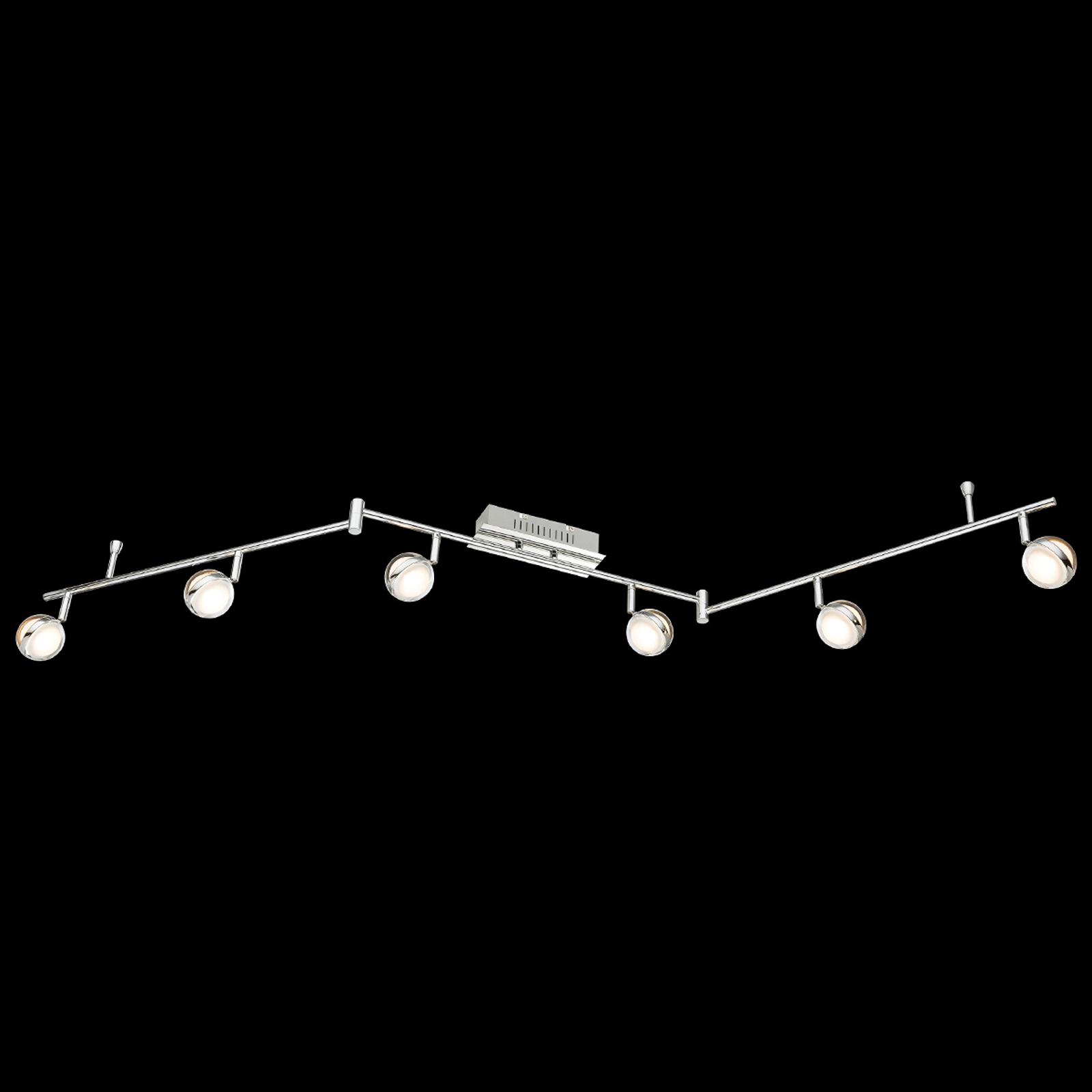 LED-taklampe Fulton seks lys