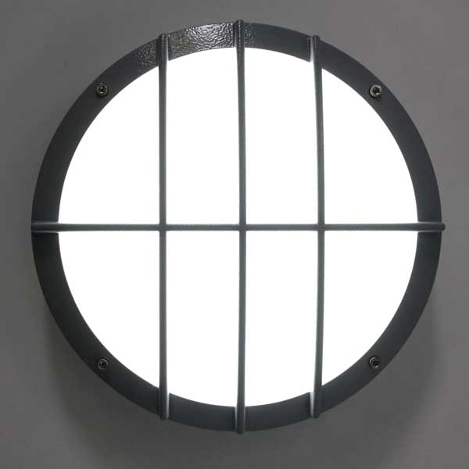 Aplique Sun 8 LED, aluminio fundido, 3.000K 8W