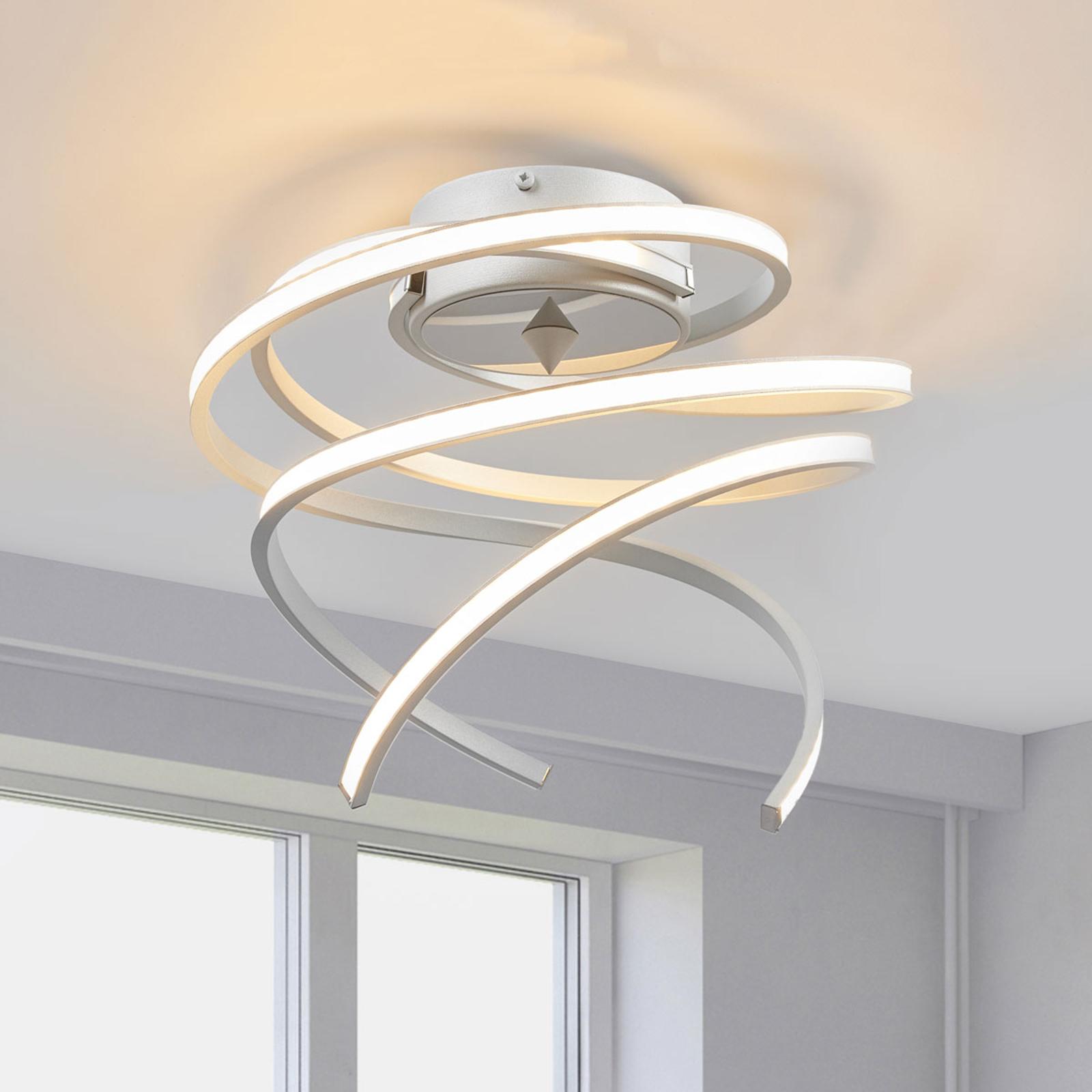 LED-taklampe Lungo alu., høyde 25 cm