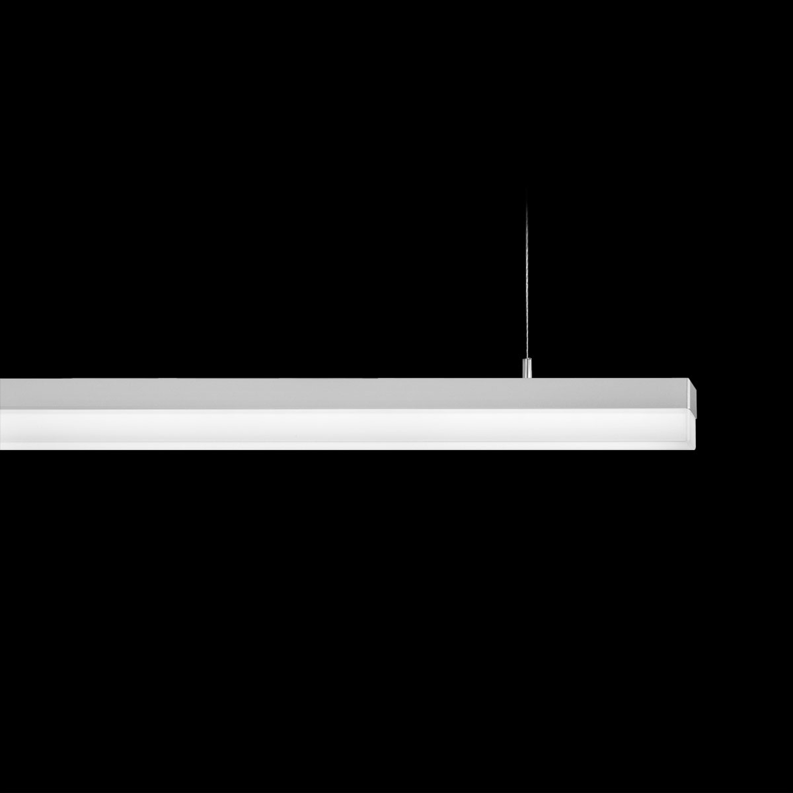Prachtige pendellamp SPINAled, 150 cm, uni-wit