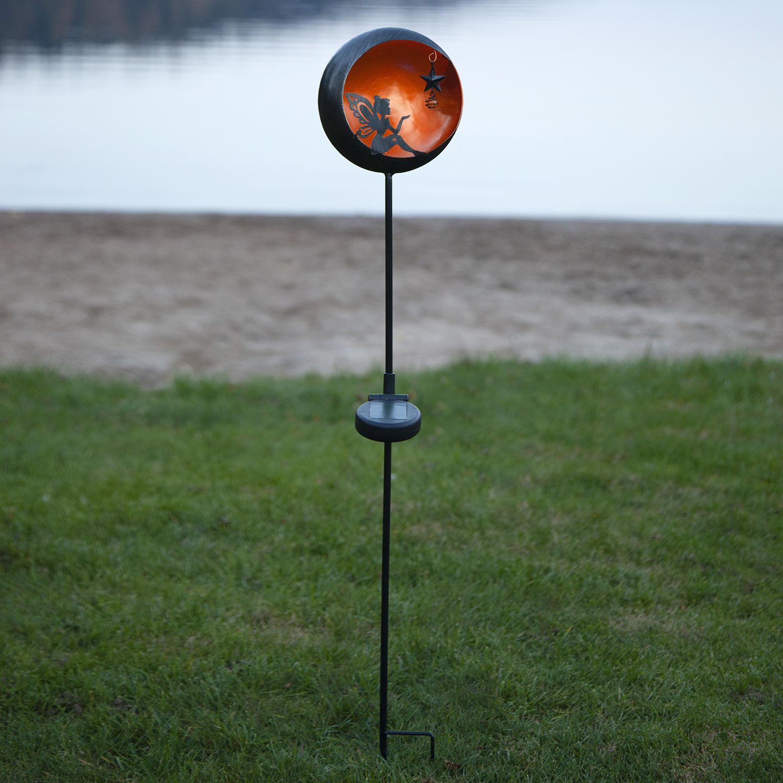 LED-solcellelampe Fairytale, oransje