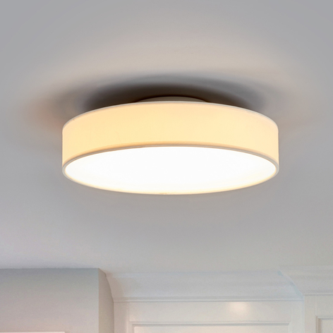Plafonnier en tissu LED Saira, 30cm, blanc