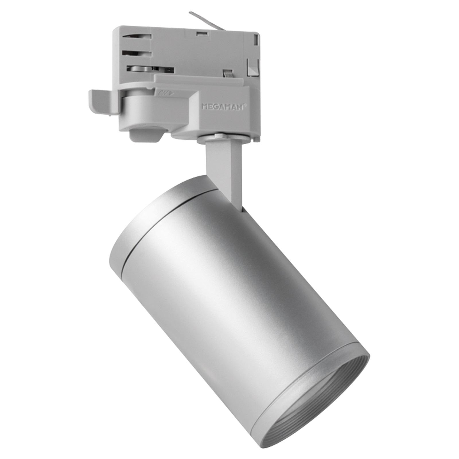 Spot Mora GU10 for 3-fase skinne sølv