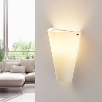Opálová skleněná nástěnná lampa Alia s LED E14