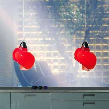 Lámpara colgante Chiocciola, rojo