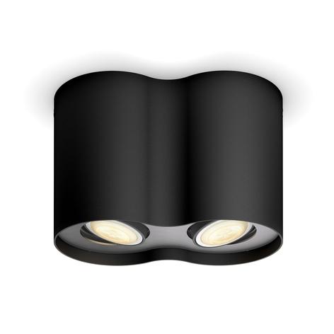 Philips Hue White Ambiance Pillar Spot 2fl schwarz