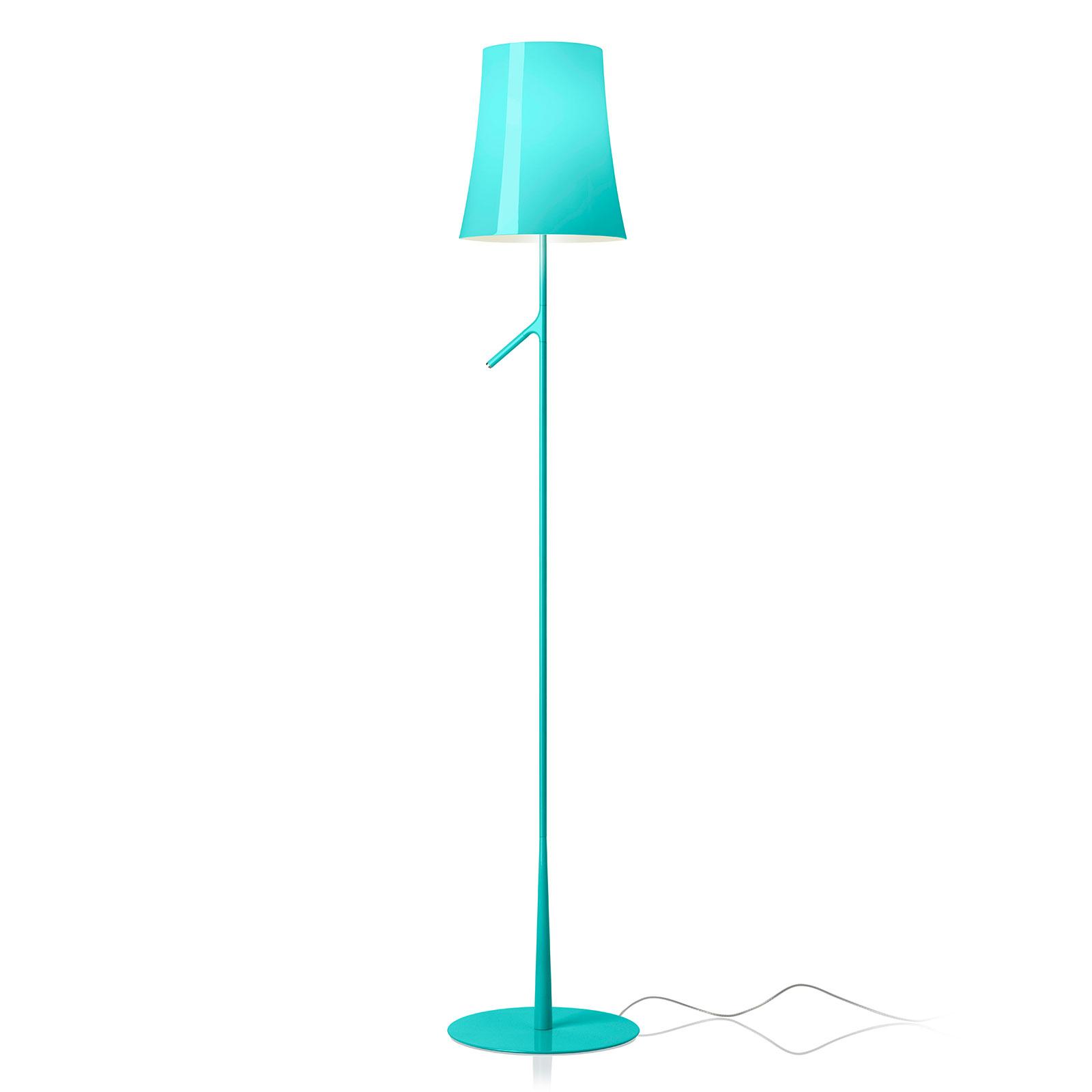 Foscarini Birdie LED Lettura gulvlampe marineblå