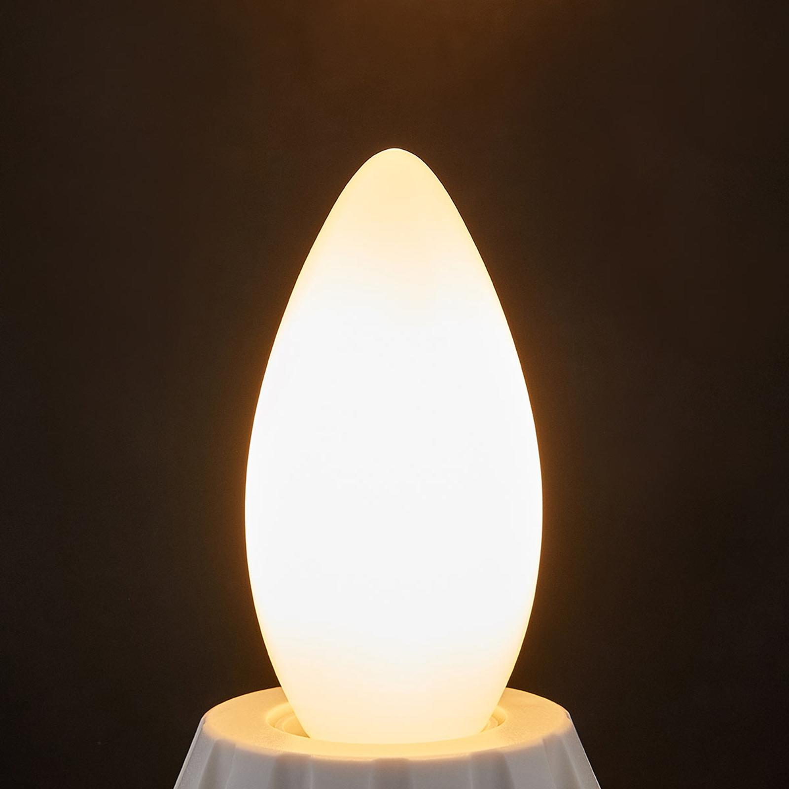 LED svíčková žárovka E14 4W, 400 lm, 2 700K, opál
