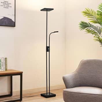 Lindby Seppa -LED-lattiavalo, kulmikas, musta