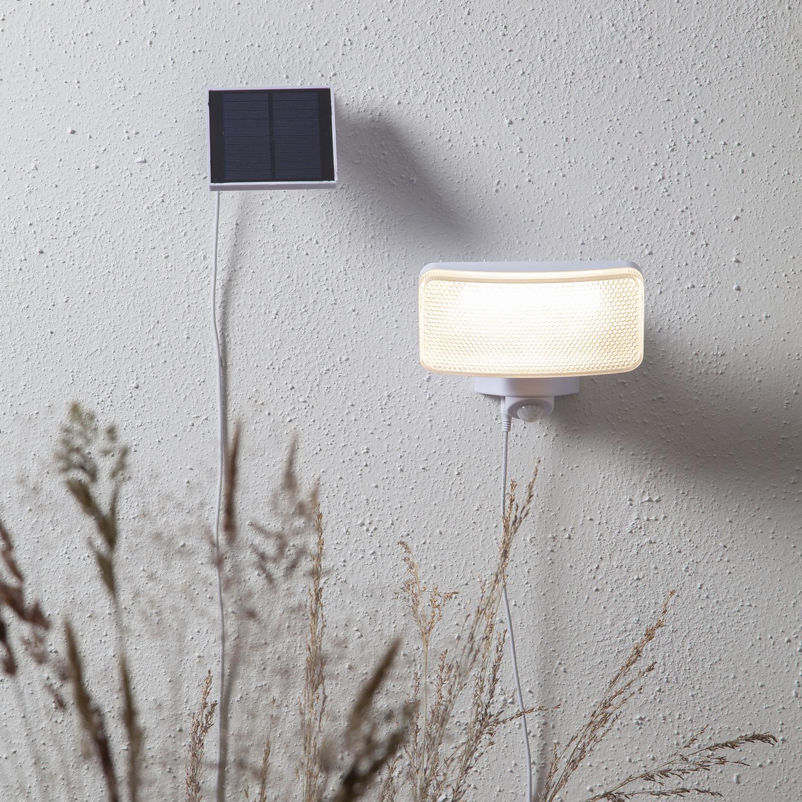 LED-sollampe Powerspot Sensor kantet hvit 350 lm