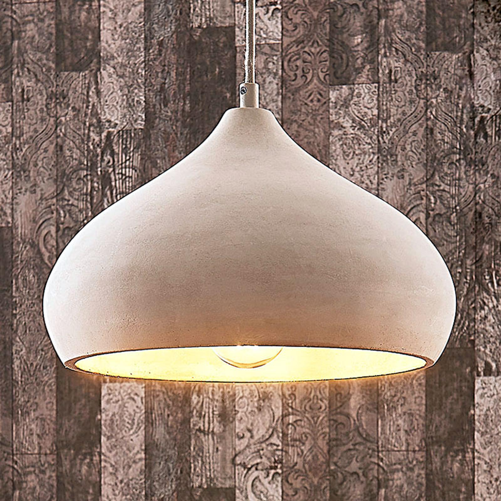 Piękna betonowa lampa wisząca Morton