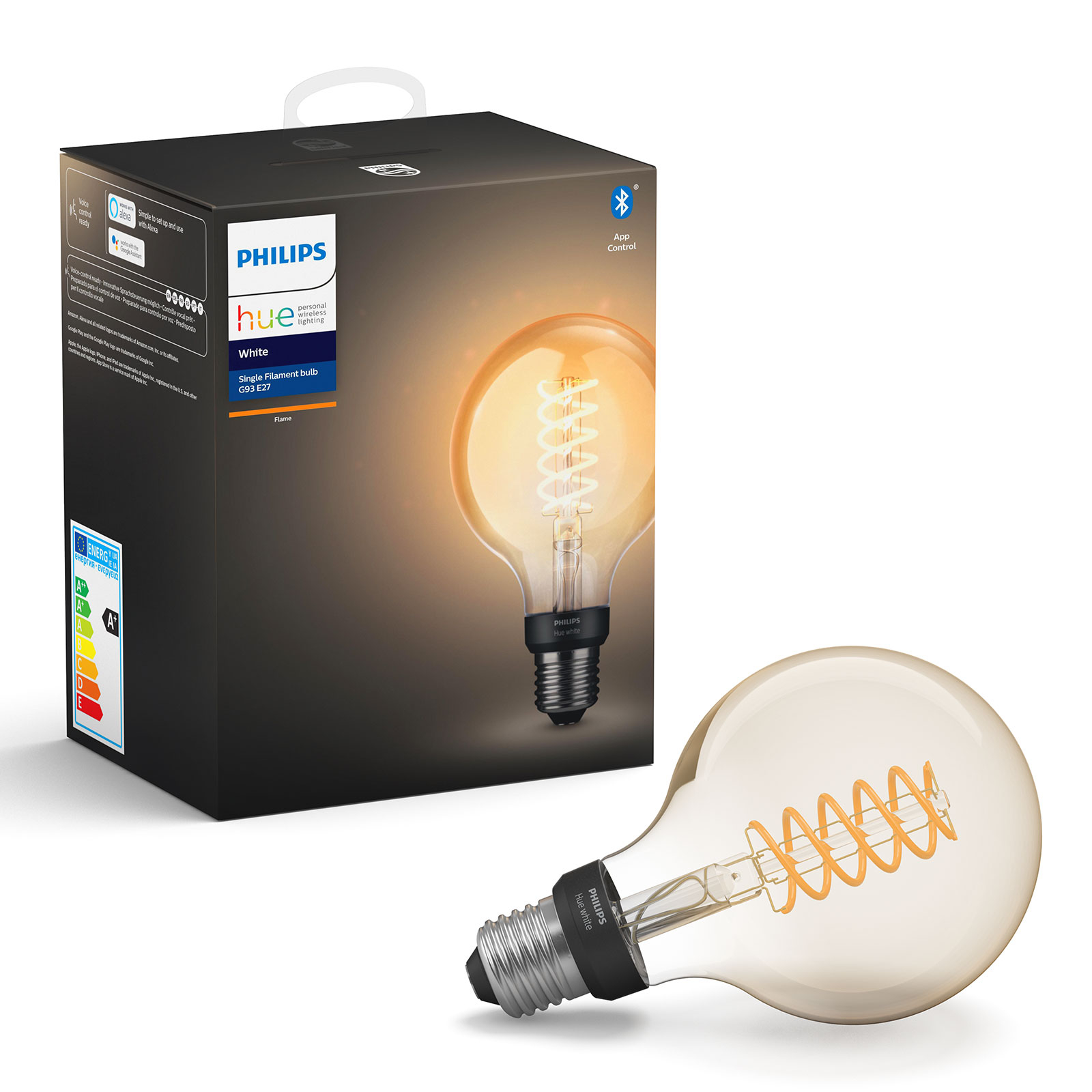 Philips Hue White 7 W E27 filament lamp Globe G95