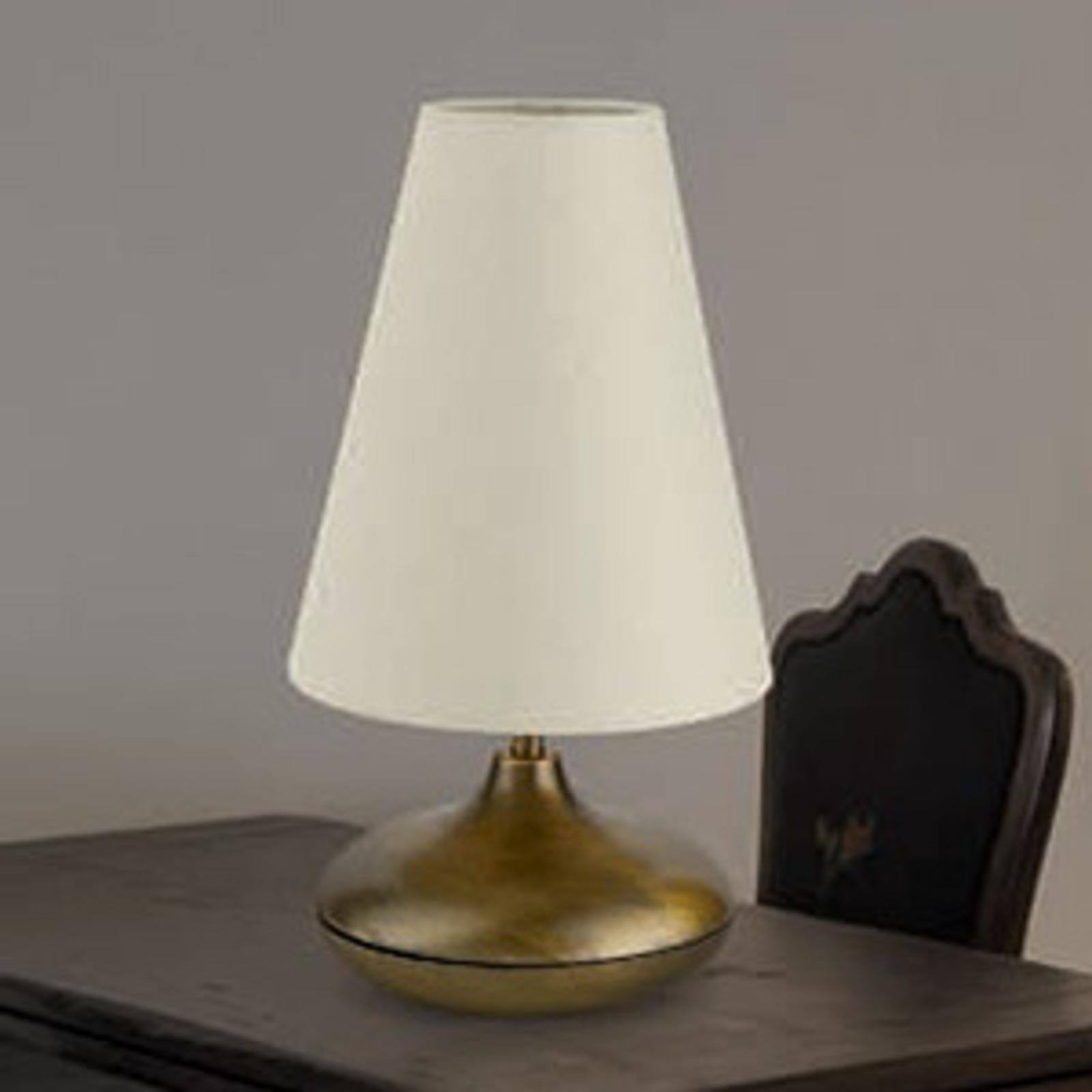 Tafellamp Sarita met helder textielscherm