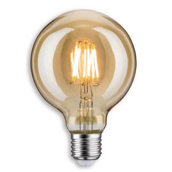 Ampoule globe LED E27 7,5W 825 G95, dorée