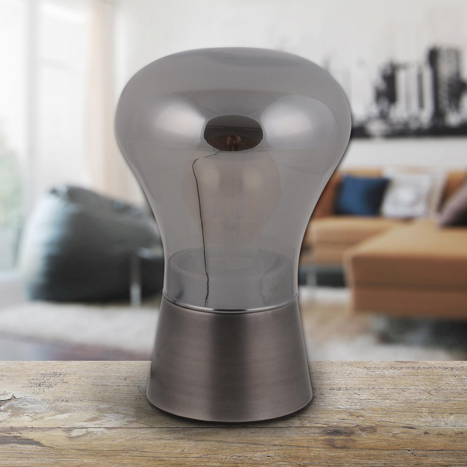 Tafellamp Kerry van glas, staal