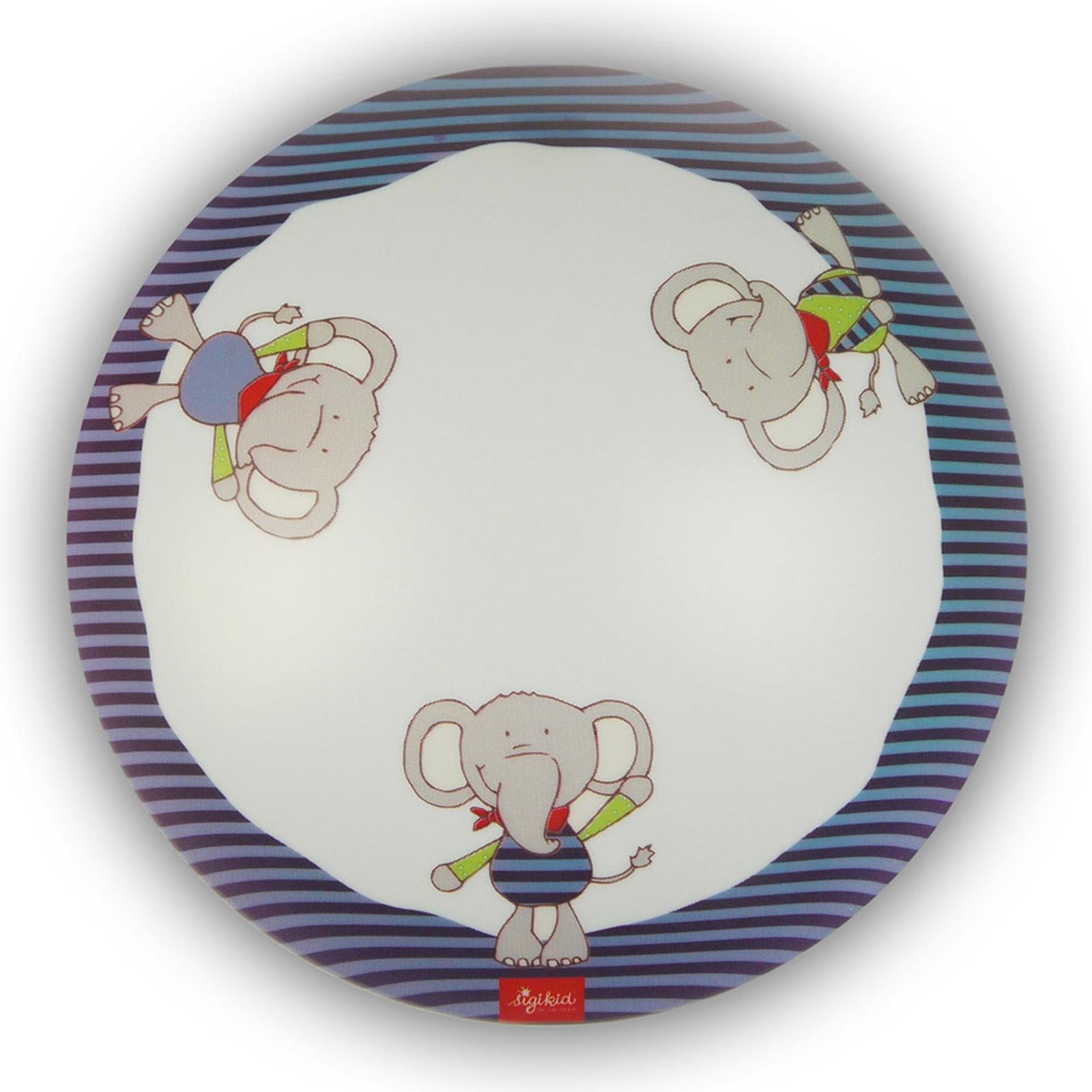 Plafoniera rotonda Lolo Lombardo per bambini