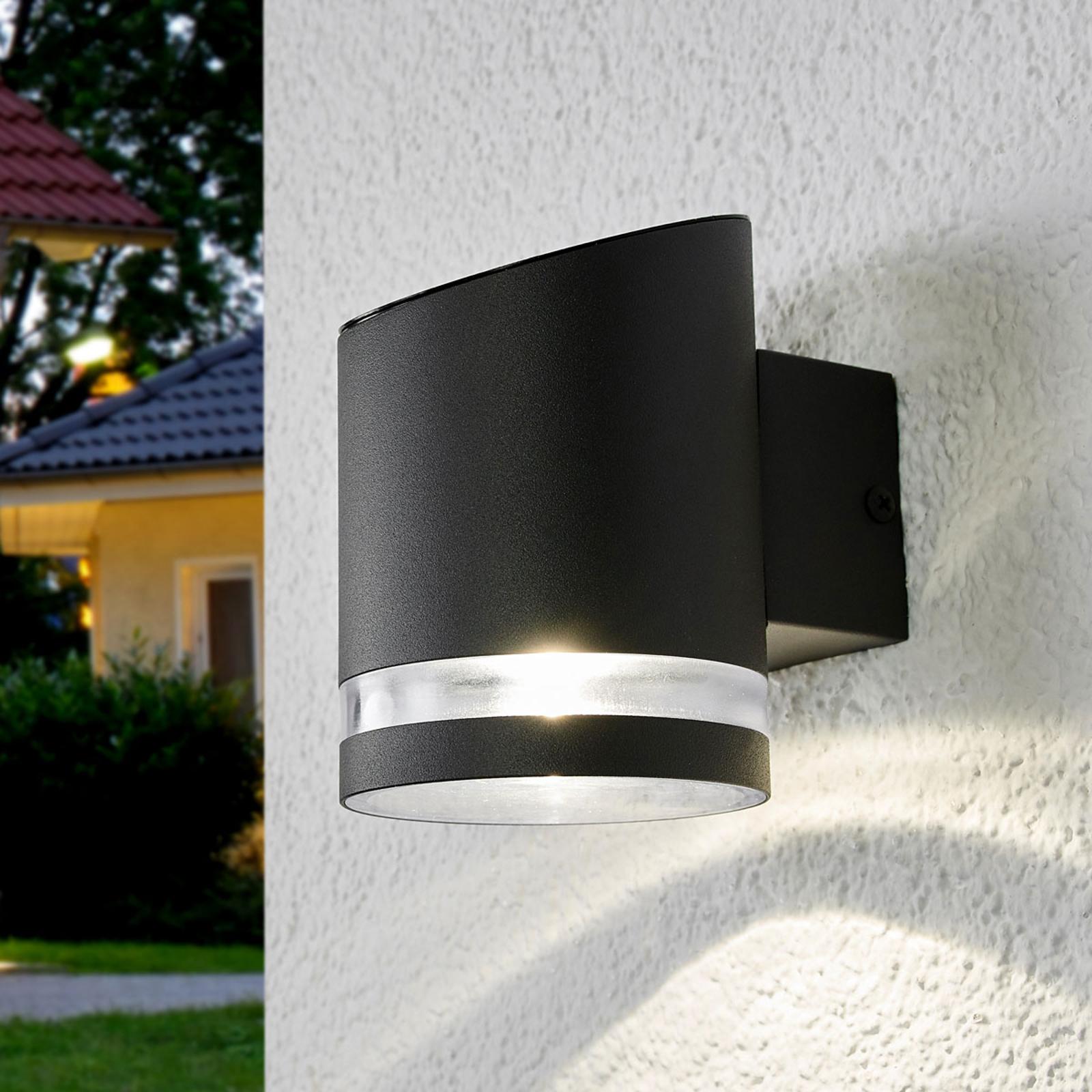 Solar-utomhusvägglampa Melinda med LED-lampa