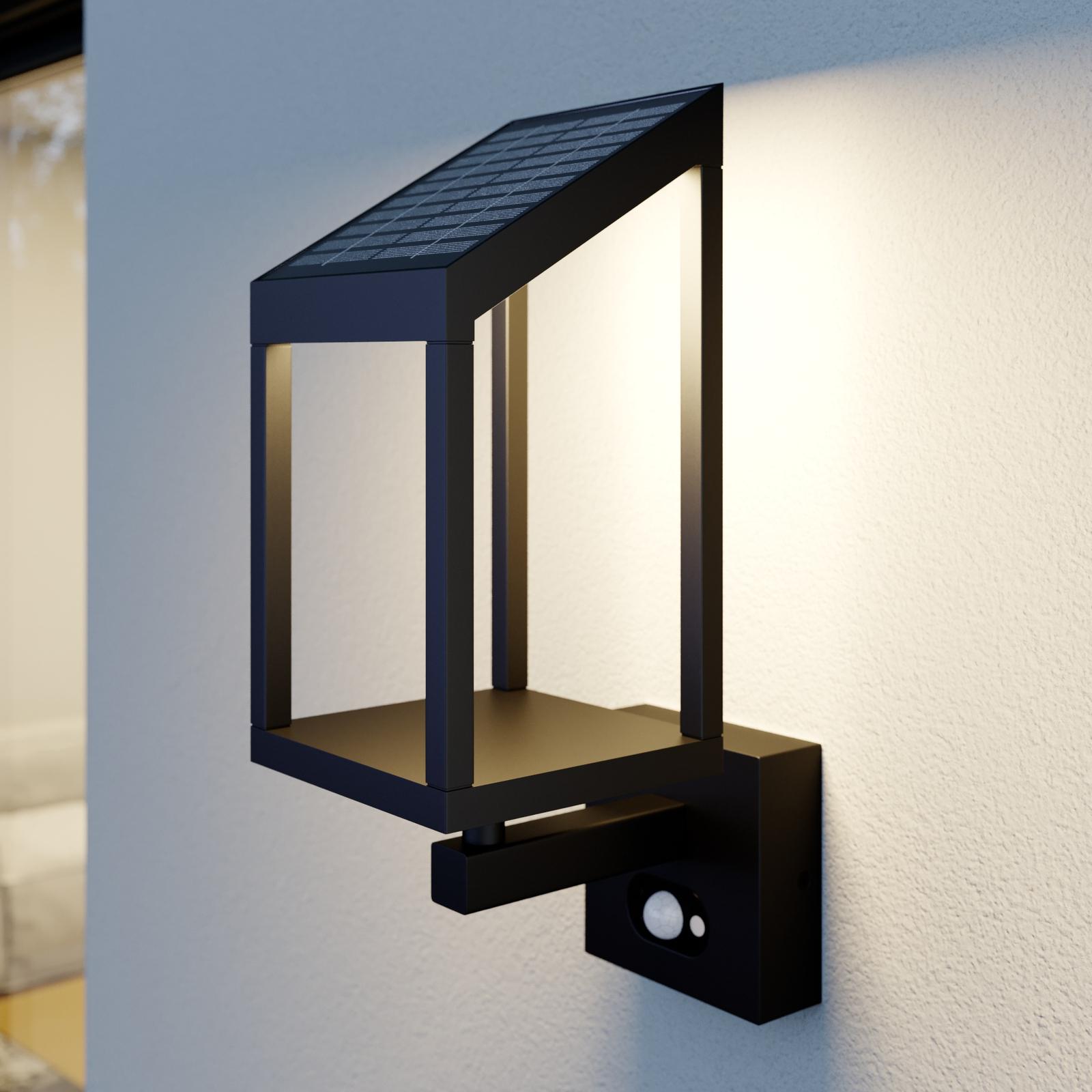 Lucande Timeo LED-buitenwandlamp op zonne-energie