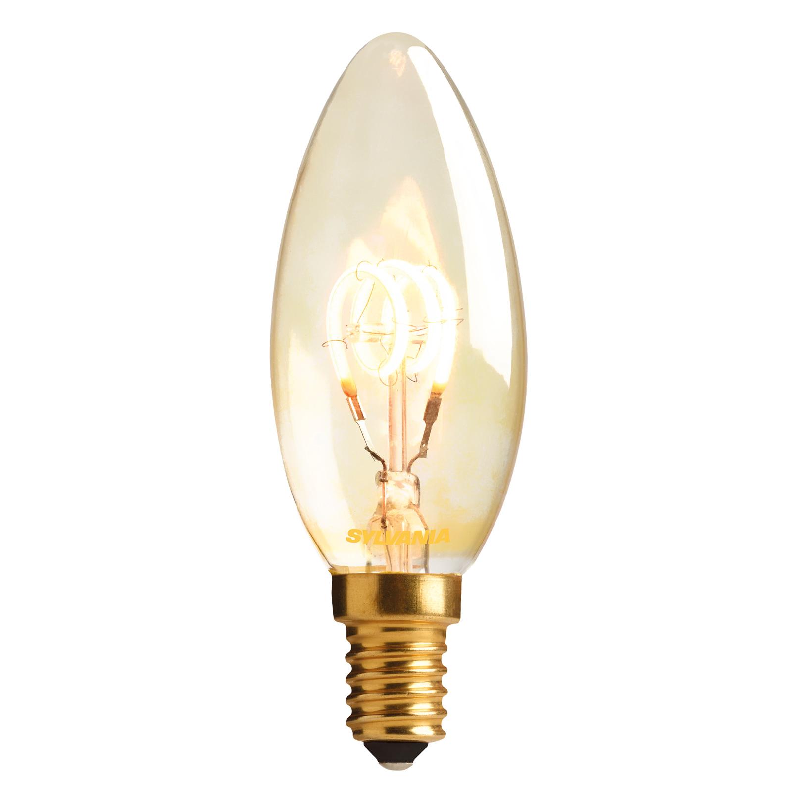 ToLEDo Vintage LED-kertepære E14 820 2,3W, guld