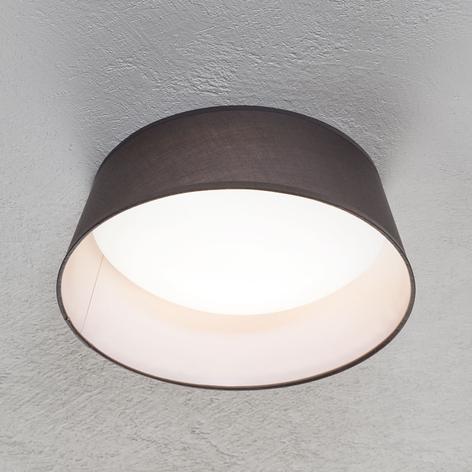 Lámpara LED de techo Ponts, pantalla textil gris