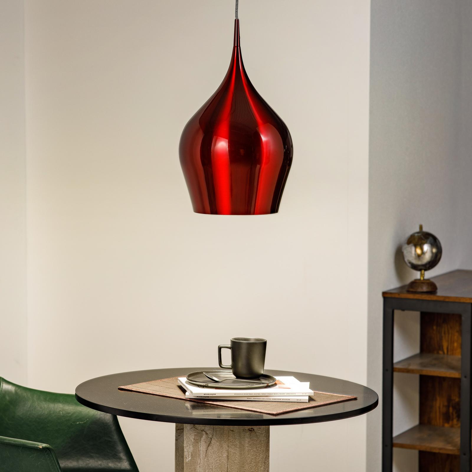 Lampa wisząca Vibrant w kolorze czerwonego wina