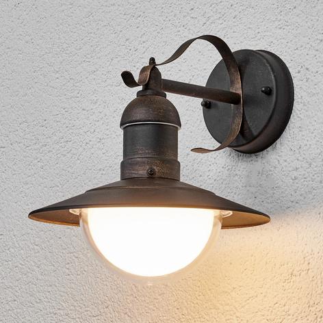 Lámpara de pared ext LED de efecto antiguo Clea
