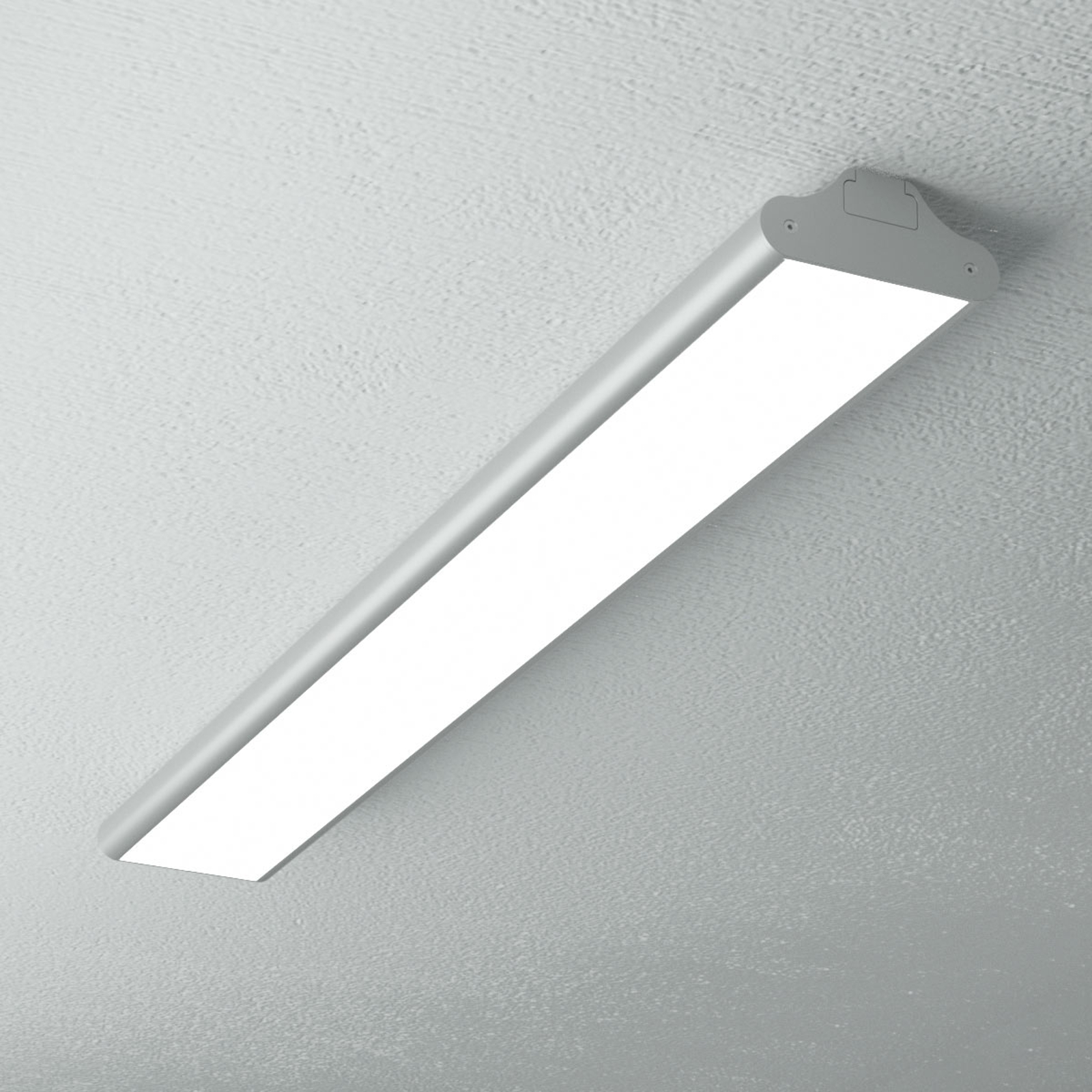 Podłużna, biurowa lampa sufitowa LED Lexine