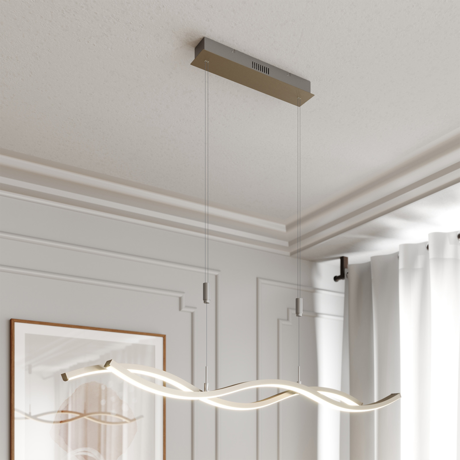 Lucande LED závěsné světlo Mairia, nastav. výška