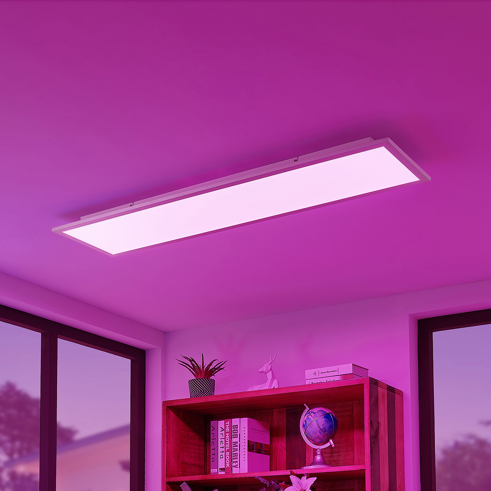Lindby Kjetil LED plafondpaneel 120 x 30 cm