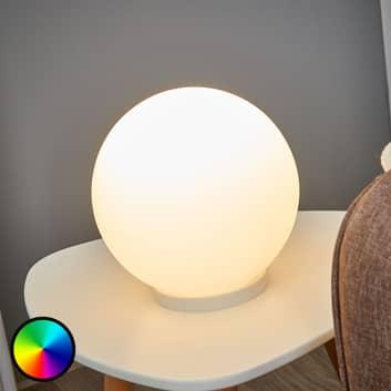 Stolní lampa LED Rondo-C RGBW ve tvaru koule