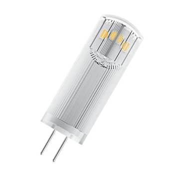 OSRAM LED-stiftsokkelpære G4 1,8W 827 klar, 3 stk.